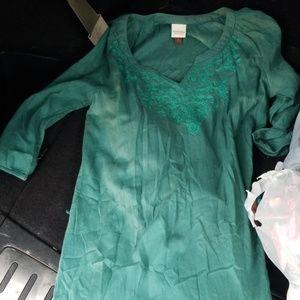 Womens size small green dress